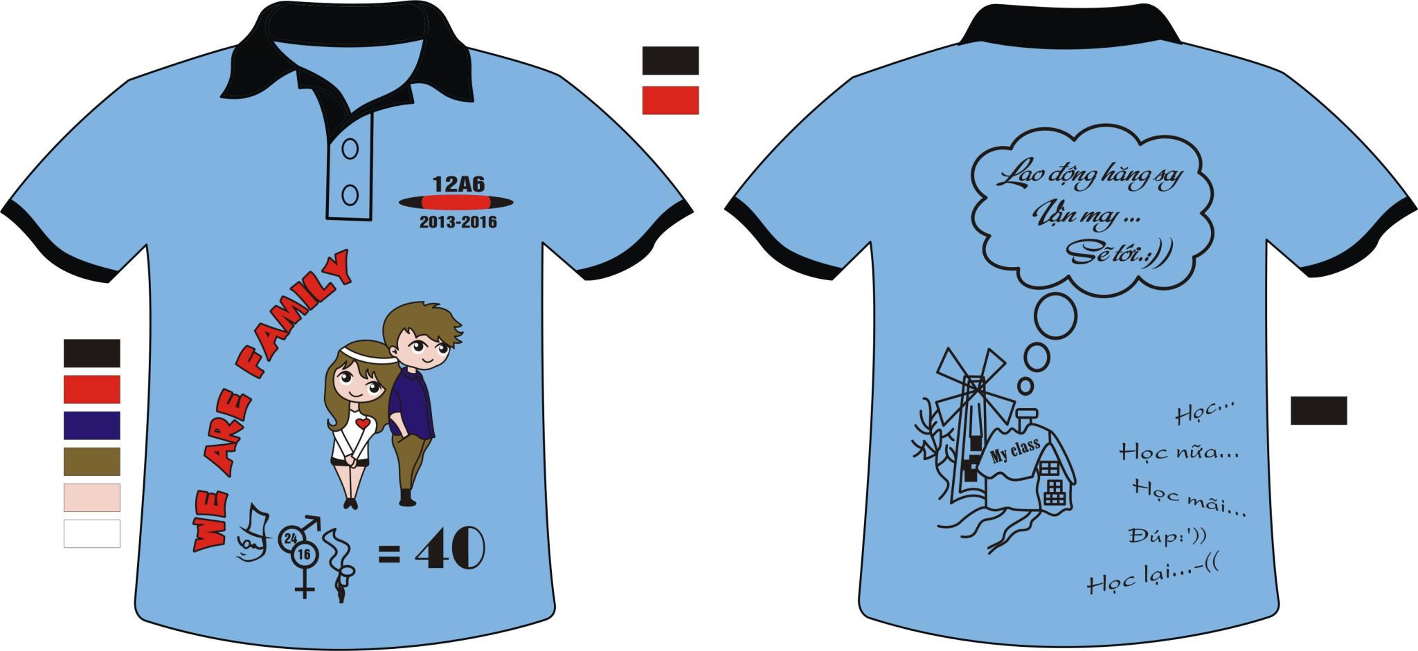 AL10: Đồng phục – Áo lớp 12A6 (We Are Family)0