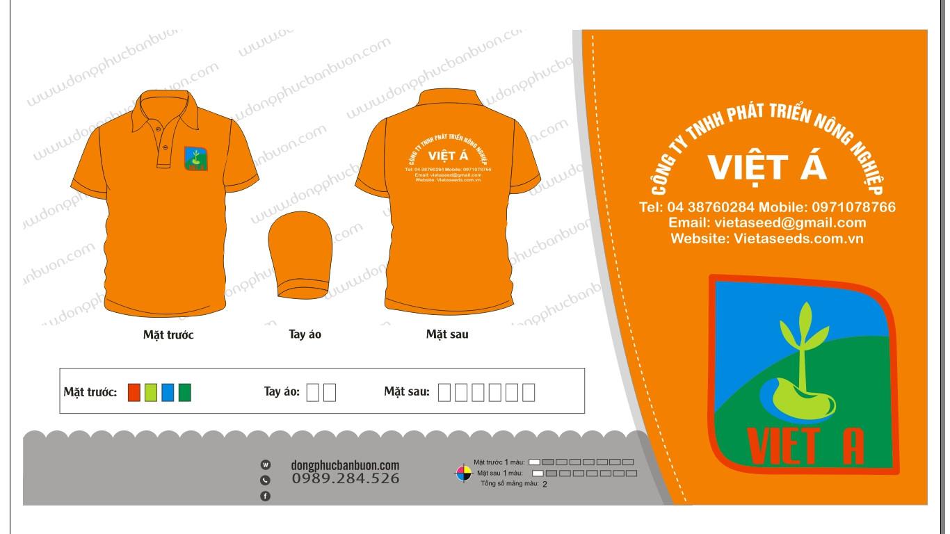 ĐPCT01: Đồng phục công ty TNHH phát triển nông nghiệp Việt Á0