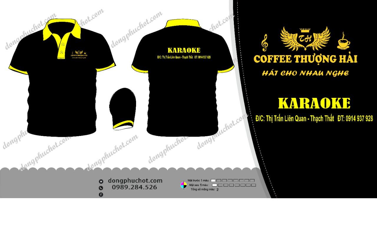 ĐPNH02: Đồng phục – ÁO KARAOKE  (COFFEE THƯỢNG HẢI)0