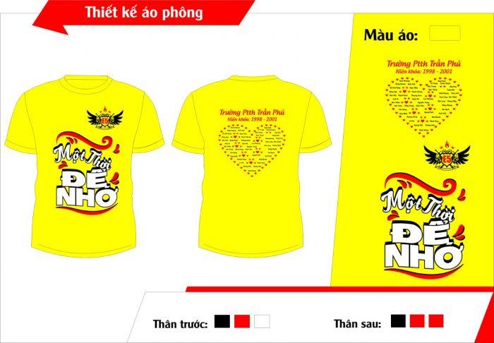 AL134:áo lớp màu vàng – đồng phục lớp màu vàng