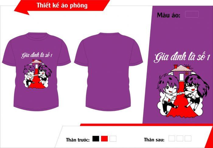 AL135:áo lớp màu tím – đồng phục lớp màu tím