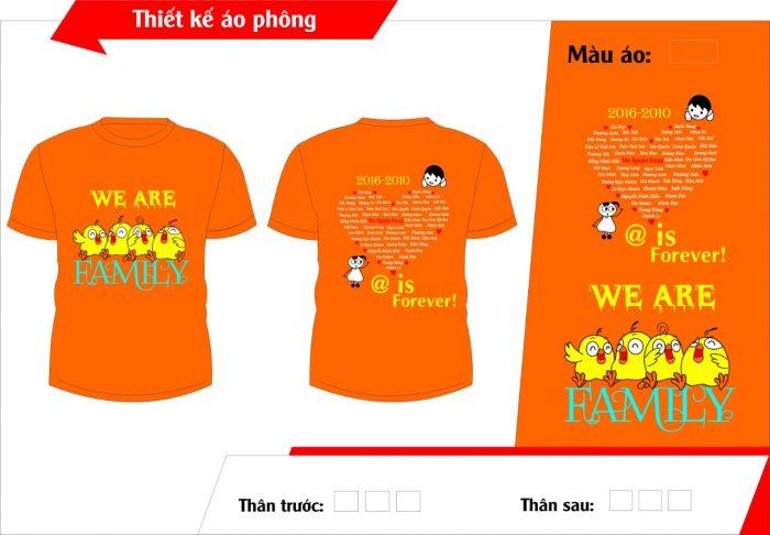 AL137:áo lớp màu cam – đồng phục lớp màu cam