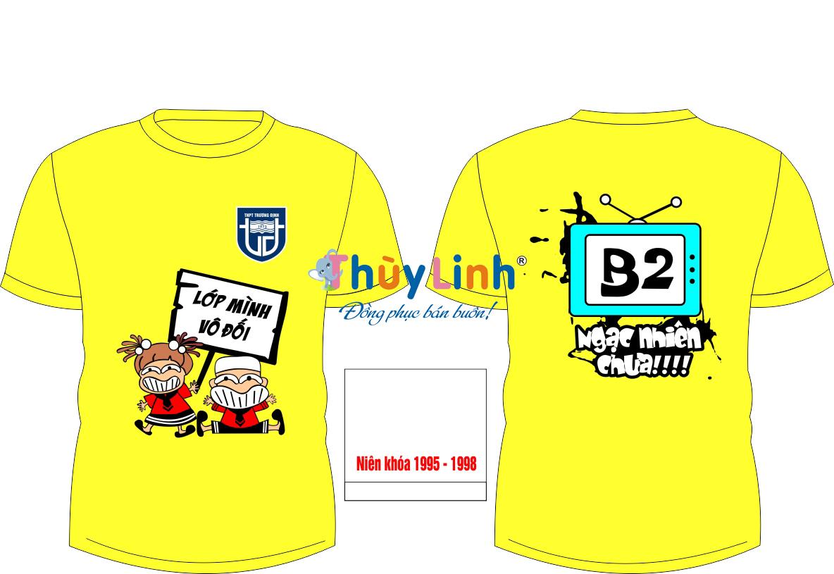 AL138: Áo lớp màu vàng – đồng phục lớp màu vàng0