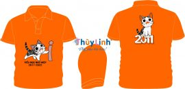 AL141: Áo lớp màu cam – đồng phục lớp tiểu học
