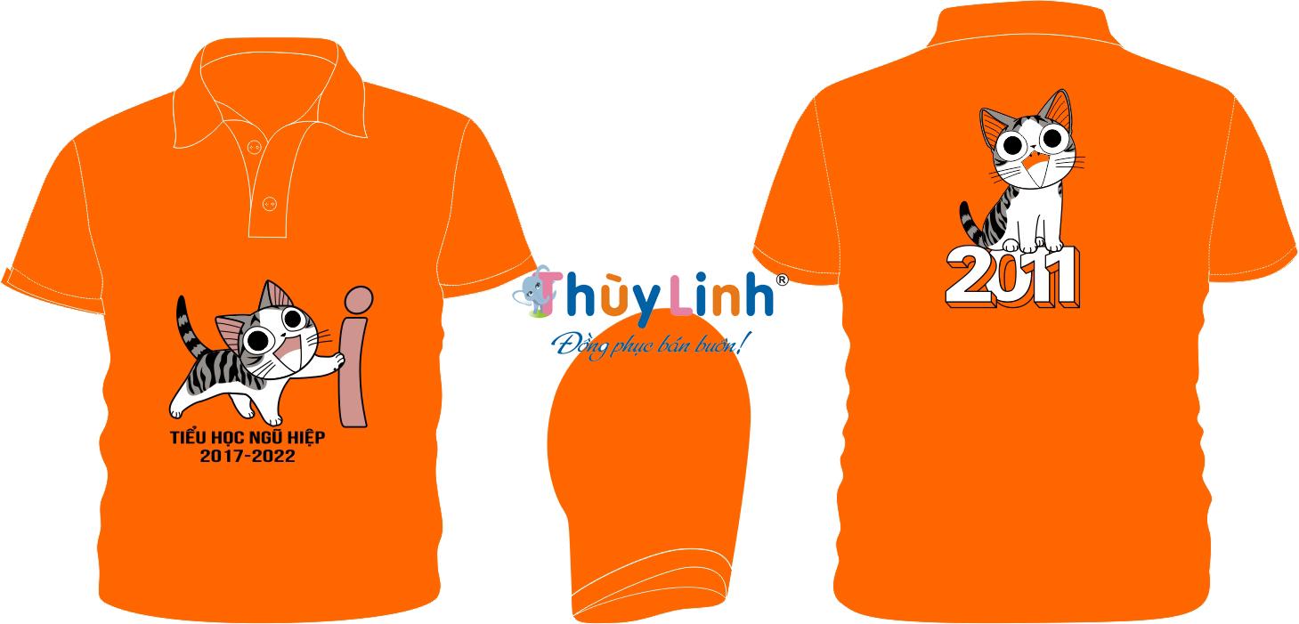 AL141: Áo lớp màu cam – đồng phục lớp tiểu học0