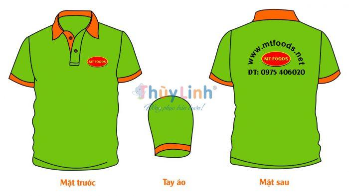 ĐPCT46: Đồng phục – In áo đồng phục công ty MT Foods