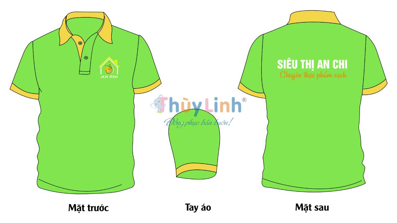 ĐPCT50: Đồng phục – In áo đồng phục siêu thị An Chi0