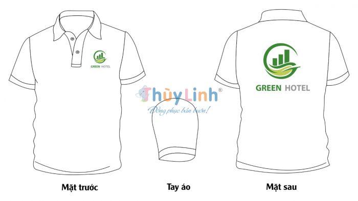 ĐPCT52: Đồng phục – In áo đồng phục Green Hotel