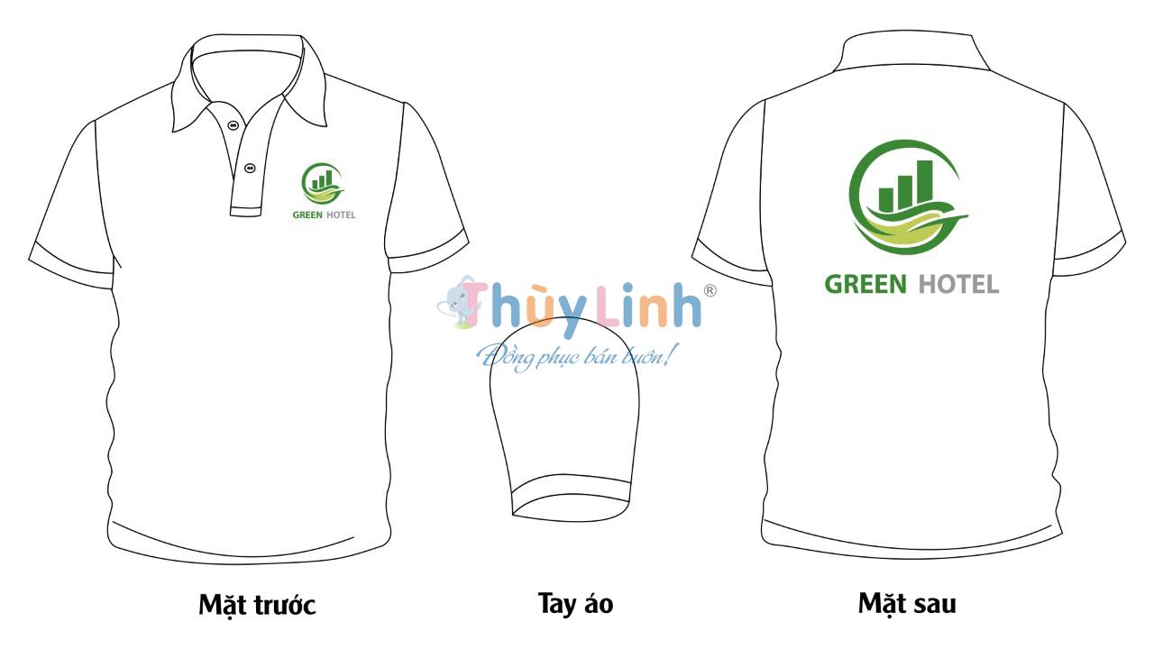ĐPCT52: Đồng phục – In áo đồng phục Green Hotel0