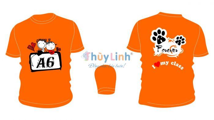 AL148: Áo lớp in theo yêu cầu – A6 màu cam