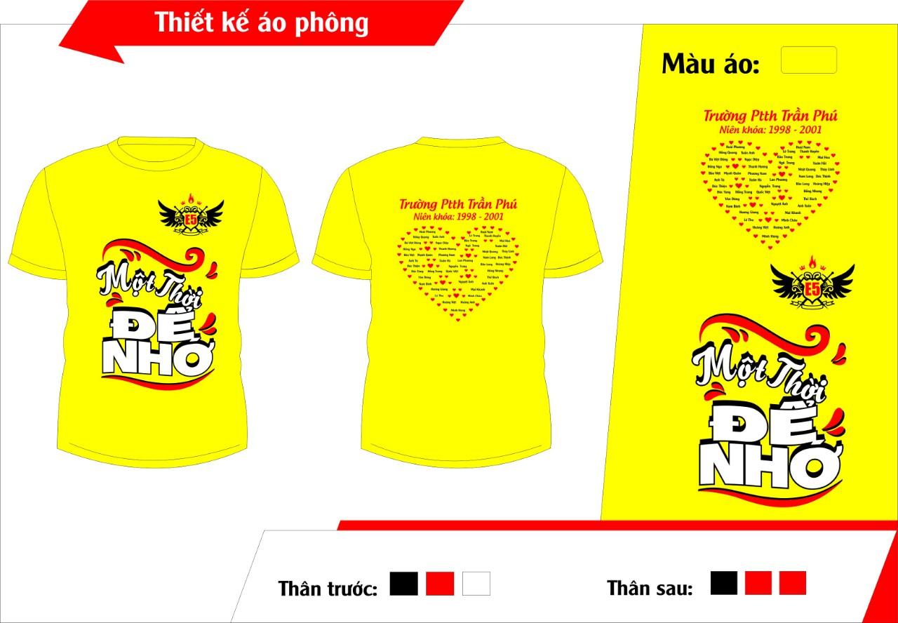 AL134:áo lớp màu vàng – đồng phục lớp màu vàng0