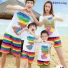 ĐB16 – Đồ đi biển cho gia đình (quần áo cầu vồng)0