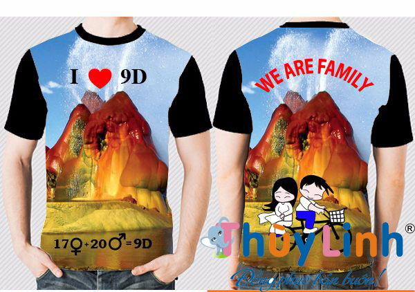 AL145: Áo lớp 3D – We are family0
