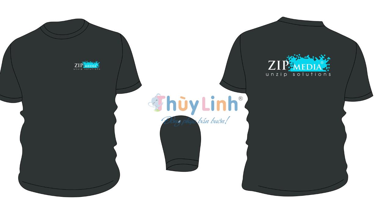 ĐPCT49: Đồng phục – In áo đồng phục công ty Zip Media0
