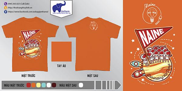 AL152: Áo lớp Naine – áo lớp màu cam2