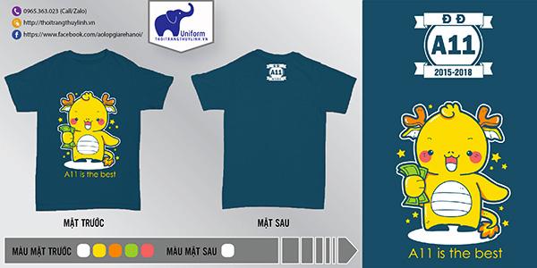 AL165: Áo lớp A11 is the best – áo đồng phục lớp chất2