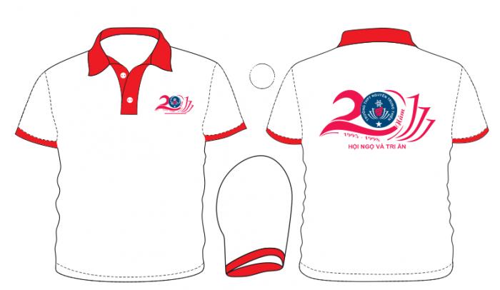 AL166: Làm áo lớp kỷ niệm 20 năm ra trường – Áo kỷ niệm