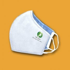khẩu trang vải in thêu logo 01